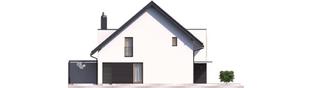 Projekt domu Konrad G1 (bliźniak) ENERGO PLUS - elewacja lewa