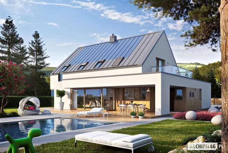 Projekt domu Malkolm G2 ENERGO PLUS - wizualizacja ogrodowa
