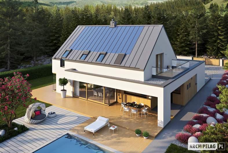 Projekt domu Malkolm G2 ENERGO PLUS - widok z góry