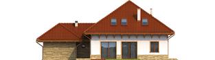 Projekt domu Ala G1 - elewacja tylna