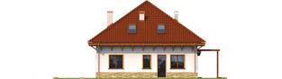 Projekt domu Ala G1 - elewacja lewa