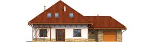 Projekt domu Ala G1 - elewacja frontowa