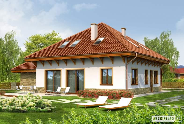 Projekt domu Ala G1 - wizualizacja ogrodowa