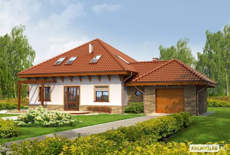 Projekt domu Ala G1 - wizualizacja frontowa