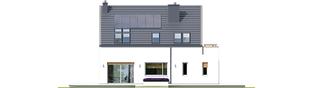 Projekt domu Oskar ENERGO - elewacja tylna