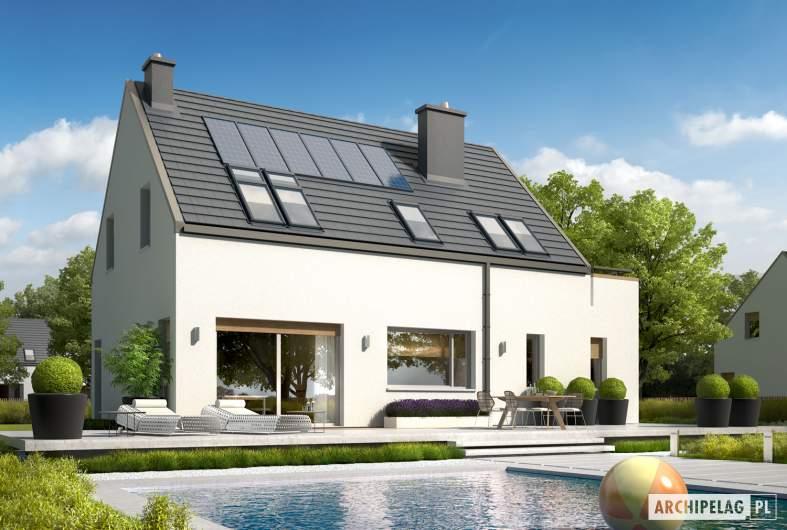 Projekt domu Oskar ENERGO - wizualizacja ogrodowa