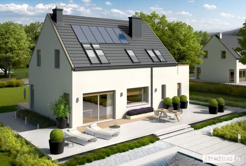 Projekt domu Oskar ENERGO - widok z góry