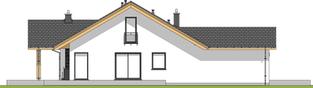 Projekt domu Simon G1 - elewacja lewa