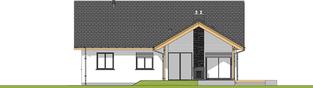 Projekt domu Simon G1 - elewacja tylna