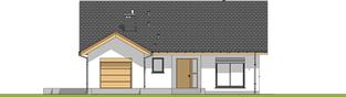 Projekt domu Simon G1 - elewacja frontowa
