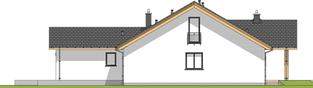 Projekt domu Simon G1 - elewacja prawa