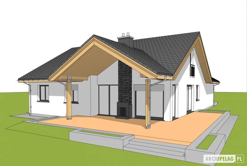 Projekt domu Simon G1 - wizualizacja ogrodowa