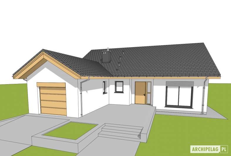 Projekt domu Simon G1 - wizualizacja frontowa