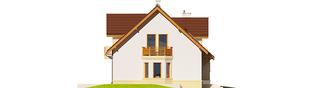 Projekt domu Mati III G1 Mocca - elewacja lewa