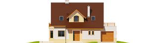 Projekt domu Mati III G1 Mocca - elewacja frontowa