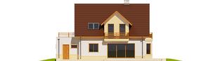 Projekt domu Mati III G1 Mocca - elewacja tylna