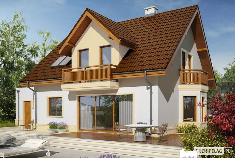 Projekt domu Mati III G1 Mocca - wizualizacja ogrodowa