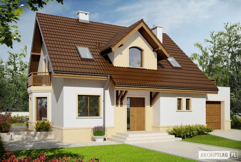 Projekt domu Mati III G1 Mocca - wizualizacja frontowa