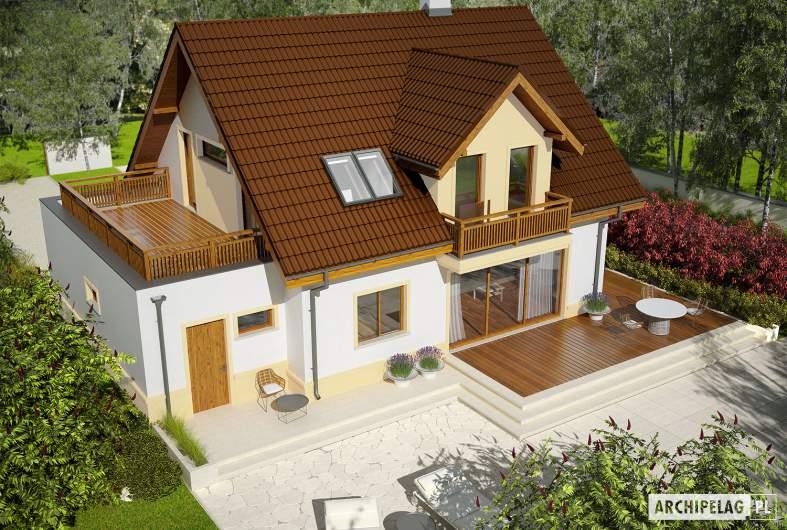 Projekt domu Mati III G1 Mocca - widok z góry