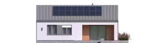 Projekt domu Mini 3 PLUS - elewacja tylna