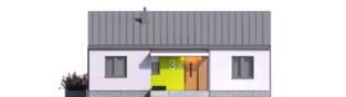 Projekt domu Mini 3 PLUS - elewacja frontowa