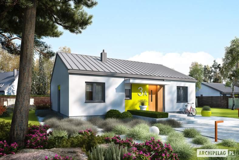 Projekt domu Mini 3 PLUS - wizualizacja frontowa