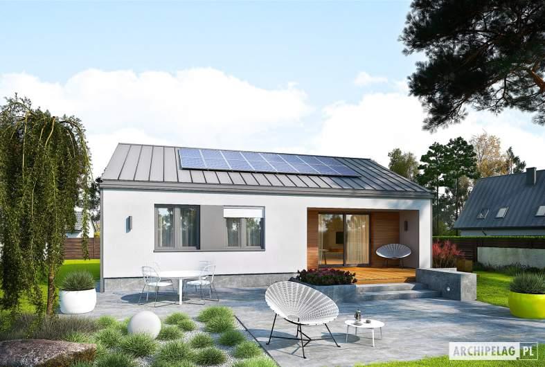 Projekt domu Mini 3 PLUS - wizualizacja ogrodowa