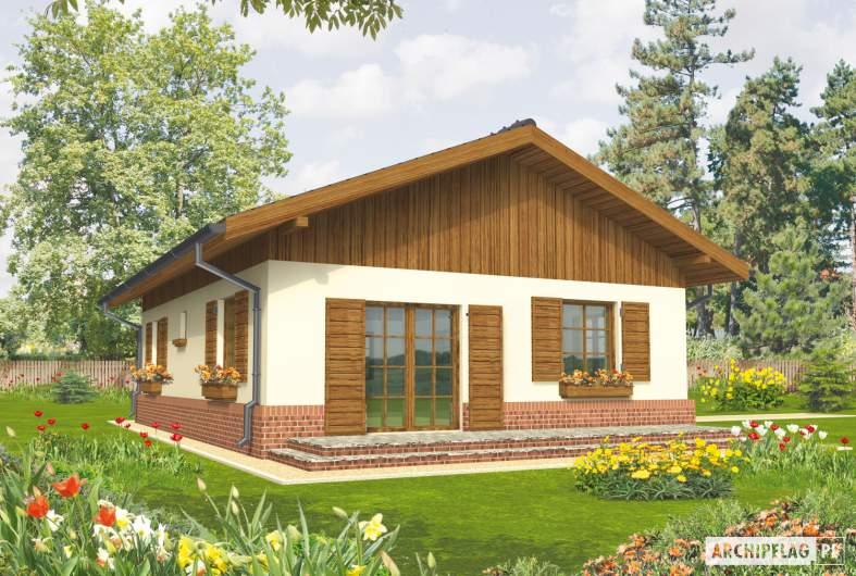 Projekt domu Nadia - wizualizacja ogrodowa