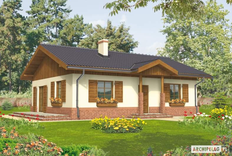 Projekt domu Nadia - wizualizacja frontowa