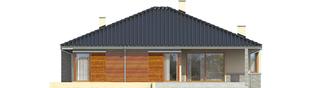 Projekt domu Flori II (30 stopni) - elewacja tylna
