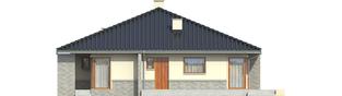 Projekt domu Flori II (30 stopni) - elewacja prawa