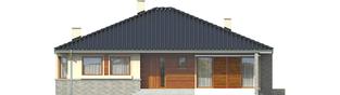 Projekt domu Flori II (30 stopni) - elewacja frontowa