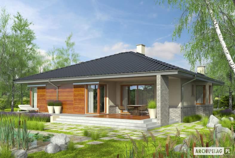 Projekt domu Flori II (30 stopni) - Projekty domów ARCHIPELAG - Flori II (30 stopni) - wizualizacja ogrodowa