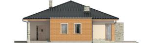 Projekt domu Grzegorz - elewacja frontowa