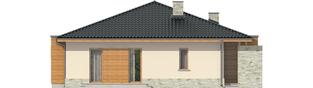 Projekt domu Grzegorz - elewacja lewa