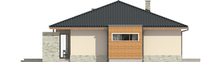 Projekt domu Grzegorz - elewacja tylna