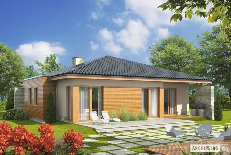 Projekt domu Grzegorz - wizualizacja ogrodowa