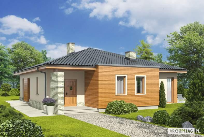 Projekt domu Grzegorz - wizualizacja frontowa