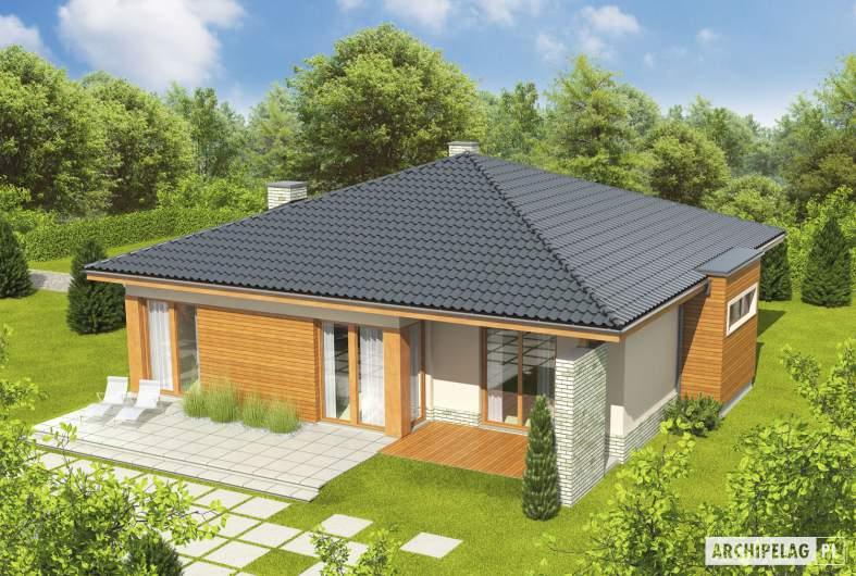 Projekt domu Grzegorz - widok z góry