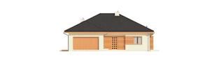 Projekt domu Eris G2 (wersja C) - elewacja frontowa