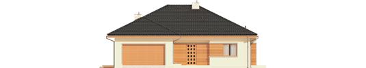 Eris G2 C - Projekty domów ARCHIPELAG - Eris G2 (wersja C) - elewacja frontowa