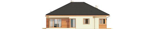 Eris G2 C - Projekty domów ARCHIPELAG - Eris G2 (wersja C) - elewacja tylna
