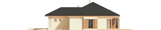 Eris G2 C - Projekty domów ARCHIPELAG - Eris G2 (wersja C) - elewacja prawa