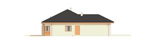 Projekt domu Eris G2 (wersja C) - elewacja lewa