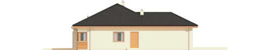 Eris G2 C - Projekty domów ARCHIPELAG - Eris G2 (wersja C) - elewacja lewa