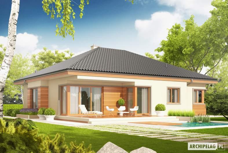 Projekt domu Eris G2 (wersja C) - Projekty domów ARCHIPELAG - Eris G2 (wersja C) - wizualizacja ogrodowa