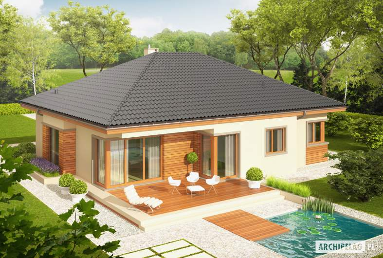 Projekt domu Eris G2 (wersja C) - Projekty domów ARCHIPELAG - Eris G2 (wersja C) - widok z góry