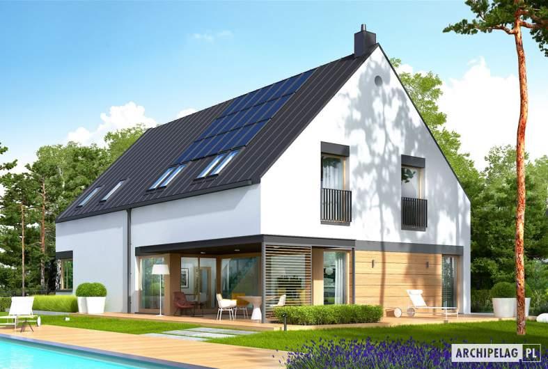 Projekt domu Teodor G2 (wersja C) - wizualizacja ogrodowa