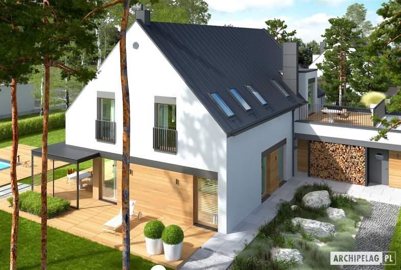 Projekt domu Teodor G2 (wersja C) - widok z góry