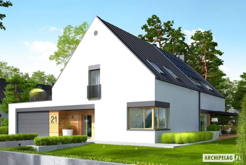 Projekt domu Teodor G2 (wersja C) - wizualizacja frontowa